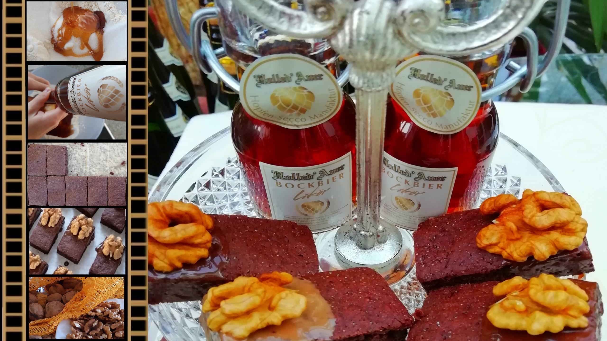 Honig-Lebkuchen mit Holled'Auer Bockbier-Likör